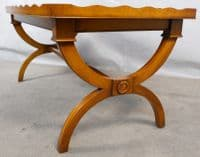 Antique Regency Style Yew Coffee Table by Reprodux - SOLD